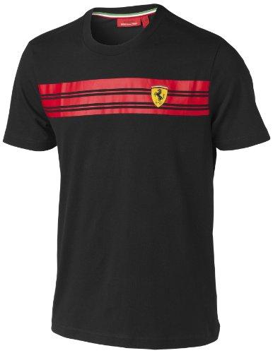 Camiseta Scuderia Ferrari Oficial Rayas Negra Talla L