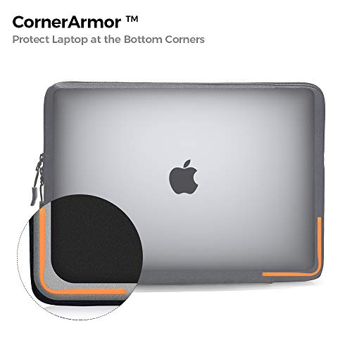 tomtoc 360 Protective Laptop Sleeve for 2020 New Dell XPS 15, 15-inch MacBook Pro with USB-C A1990 A1707, ThinkPad X1 Yoga (1-4th Gen), 14 HP Acer Chromebook, Surface Laptop 3 15, Waterproof Bag