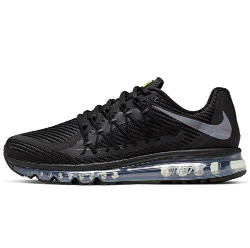 Nike Men's Air Max 2015 Running Shoes (9.5, Black/Volt/Wolf Grey)
