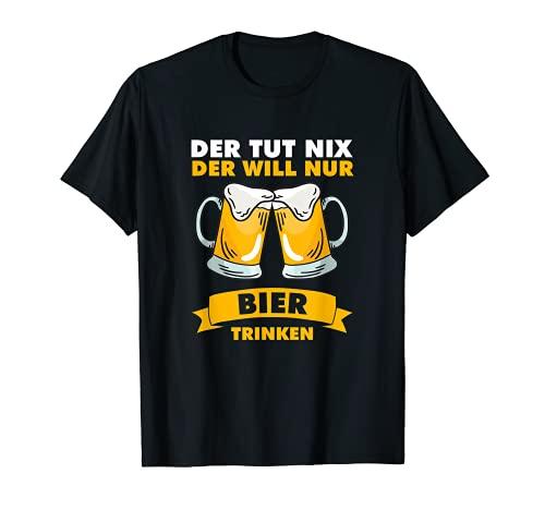 Herren Der tut nix der will nur Bier trinken T-Shirt