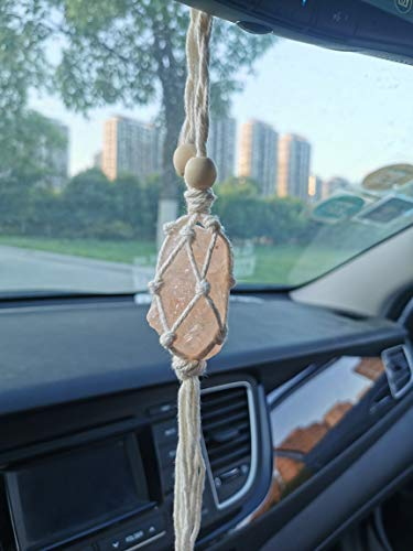 Handmade Himalayan Salt Car Rearview Mirror Pendant Car Decoration Hanging Ornaments for You