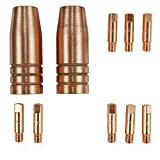 Lotos MCS10 MIG TORCH CONSUMABLES 10PC NOZZLES AND CONTACT TIPS FOR Lotos MIG175 AND Lotos MIG140 Welder