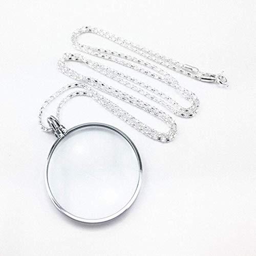 Portable zinklegering Ketting Vergrootglas Metal Vergrootglas - 10X Lens for boeken, kranten, munten, juwelen, Crafts (splinter) 8bayfa