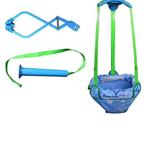 AMZYY Hamaca para Columpio Colgante, Silla Colgante para Interiores y Exteriores para Niños, Marco de Fitness con Artefacto de Bebé,Blue