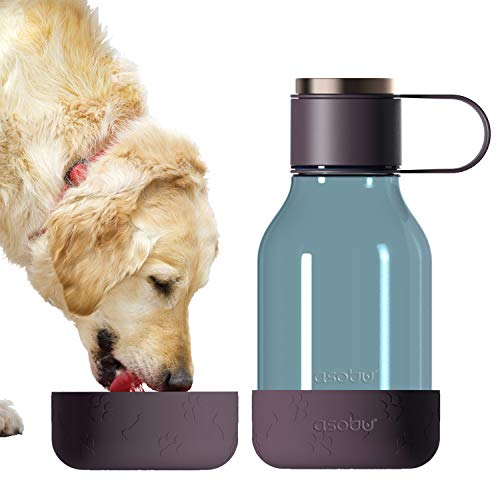 Asobu Tritan Water Bottle with Dog Bowl Attached 50 Ounces...