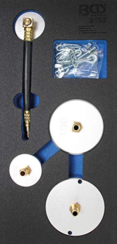 BGS 9152 | Werkstattwageneinlage 1/3: Adapter-Satz für Druckluft-Bremsenentlüfter | 4-tlg