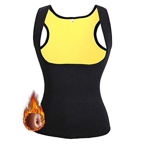 NHEIMA Faja Reductora Mujer Camisetas Sauna Adelgazantes para Mujer Chaleco de Neopreno Corset para Sudoración, Quema Grasa, Faja Abdomen, Tamaño S ✅
