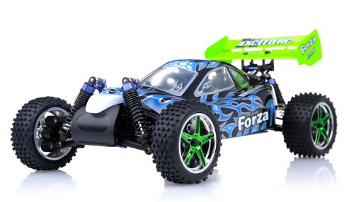 Exceed RC 1/10 2.4Ghz Forza .18 Engine RTR Nitro Powered Off Road Buggy Fire BlackSTARTER KIT Required and Sold Separately