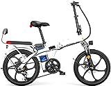 Bicicleta eléctrica de nieve, 20' plegable / Carbono Material Acero Ciudad de bicicleta eléctrica asistida eléctrica deporte de la bicicleta de montaña de la bicicleta 7 El cambio de sistema con la ba