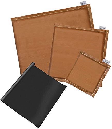 AONESY 4er Pack Bügeldecke Wärme Pad Ausgleichskissen Transferpresse- Enthält 3 Transferkissen,1 Teflonplatten für Heißpressendruck- und Vinylprojekte