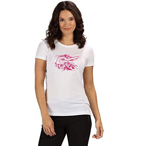 Regatta Damen Fingal Iv schnelltrocknendes Sport-T-Shirt mit UV-Schutz XL weiß