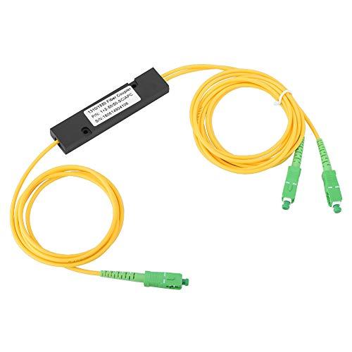 Mugast PLC Fiber Optic Splitter,Tragbar 1 x 2 SC APC optische Faser PLC Faseroptikverteiler,Faser Equipment PLC Splitter Verteiler SC/APC Adapter Glasfaser-Splitter Schwarz