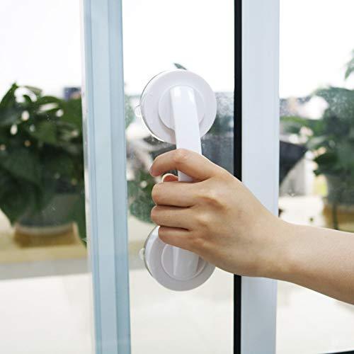 Lanbowo Asa de puerta de ventosa al vacío, para baño, cocina, cristal, puertas, ducha, asa, bar, muebles, tirador de pomo