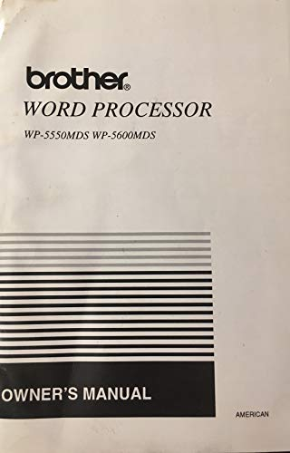 American Brother Word Processor WP-5550MDS WP-5600MDS