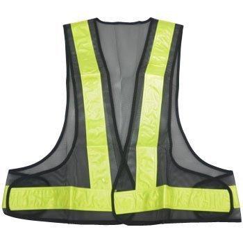 【三方良し】 安全ベスト メッシュ反射ベスト (反射テープ幅50mm)安全作業衣 夜行ベスト 安全チョッキ (ブラック/黄色)