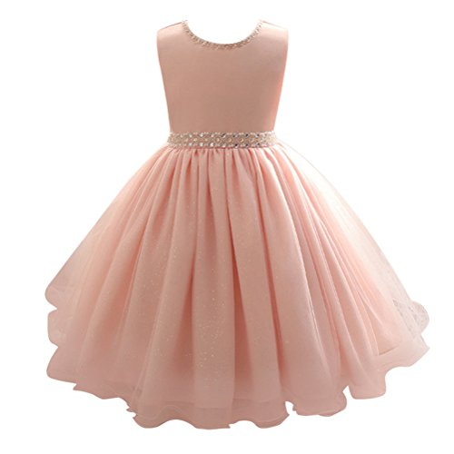 Zhhlinyuan 0-6 Year Old,Mode Baby Girls Sequined Tulle Princess Dress Kids Party Pageant Wedding Bridesmaid Tutu Dresses