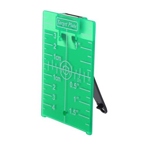 gazechimp Grüne Zielscheibe Zieltafel für Drehkreuzlinienlaser Entfernungsmesser