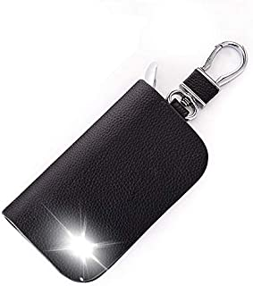 Leather Car Key Case Cover Key Wallet Bag Keychain Holder for SsangYong Rexton Musso XLV Tivoli Korando Rodius Actyon Accessory Color Name Black Size Whit VIP Logo