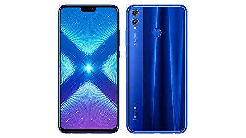 Honor 8X (64GB, 4GB RAM) 6.5' HD, Dual SIM GSM Factory Unlocked Smartphone - US + Global 4G LTE International Version JSN-L23 (Blue)