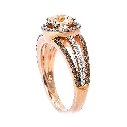 Mikro eingelegter Diamantring Drill Coloured Rose Gold Ring YunYoud opal ohrringe fingerring plastikringe bandring perlenring platinring hübsche herzform eheringedelstahlring