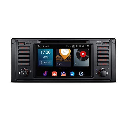 KAUTO 7'10 Single DIN Car Stero 4G + 64G Octa Core Navegación GPS Auto Player Soporte Car Auto Play BT5.0 WiFi Mirror Link Dab + TPMS para E39 M5 7 Series -