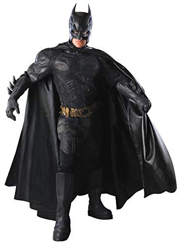 Rubie's mens Batman Dark Knight Rises, Grand Heritage Collector's Batman adult sized costumes, Black, Large US