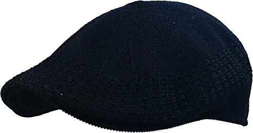 KBETHOS KBM-001 BLK XL Classic Mesh Newsboy Ivy Cap Hat (21 Colors / 4 Sizes)