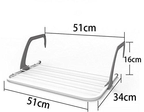 MBYW moderner, minimalistischer Handtuchhalter mit hoher Tragkraft Eleganter Badhandtuchhalter Fensterbrett-Trockengestell-Wäscheständer-faltender Handtuchhalterbalkon