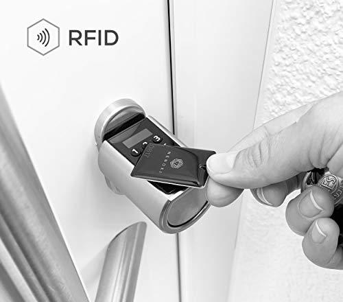 NENOKI Smartlock - elektronischer Schließzylinder mit PIN-Code, RFID- & APP-Steuerung (elektronisches Türschloss), 40/30mm (aussen/innen) - 3