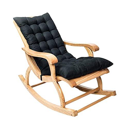 HEWAN Moderno cojín reclinable Antideslizante, Grueso, cojín de Mecedora, Asiento de sofá, cojín para el hogar (no Incluye sillas) Black
