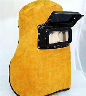 BADASS SHARKS Leather Welder Welding Mask Hood Cowhide Split Comfortable Welding Hood Helmet For Splash Proof And Heat Resistant Comfortable
