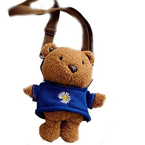 Women's cross-body bags Cute bear shape Cartoon Animal Backpack Ladies gifts Kids Backpacks Kid Handbag School Bag Toddler Boy Girl Handbag Cute Toddler Bag Christmas gifts-A_22*20cm