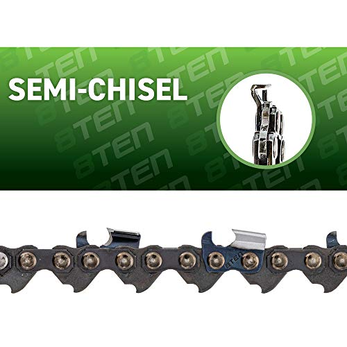 8TEN Chainsaw Chain 18 inch Bar .050 Gauge 3/8 Pitch 62 Drive Links for Husqvarna Echo Poulan Pro Stihl