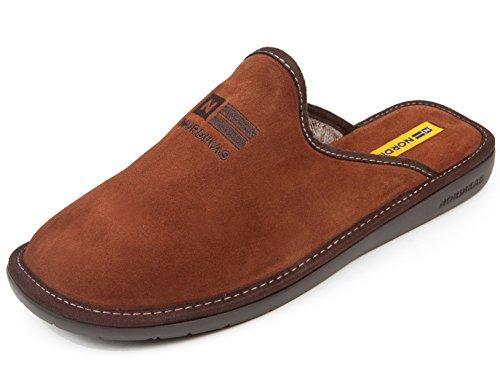 Zapatillas de casa en Ante marrón (44)