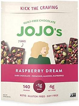 7-Count JOJO's Raspberry Dream Dark Chocolate Bars Made with Hemp