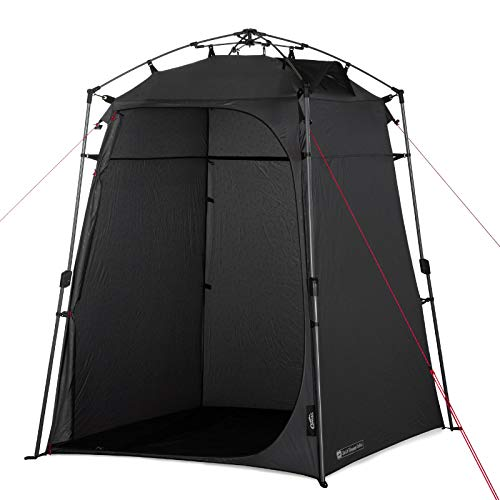 Qeedo Quick Shower Cabin Camping Duschzelt und Umkleidezelt (Blickdicht) 2m Höhe