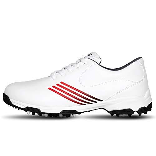 RTY XZ139 Zapatos de golf para mujer, 488g, impermeables, con bolsa de zapatos, negro, 35