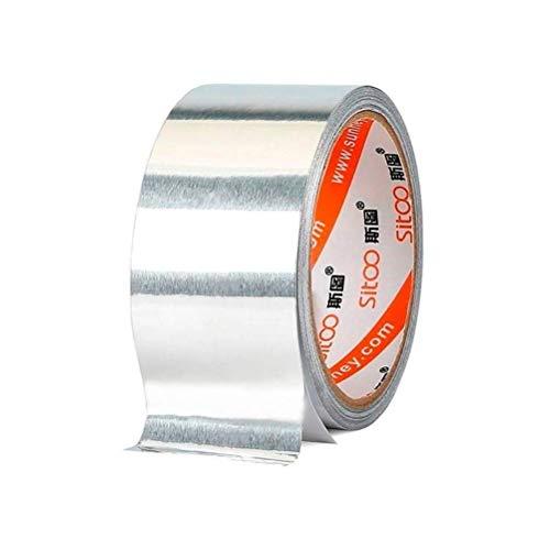 Nastro termoresistente in foglio di alluminio - 3 rotoli Nastro adesivo in alluminio Nastro isolante Nastro sigillato ad alta temperatura Nastro impermeabilizzante Nastro intrappolante Nastro isolante