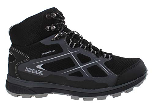 Regatta Kota - Botas de senderismo para hombre (talla 47), color negro y gris