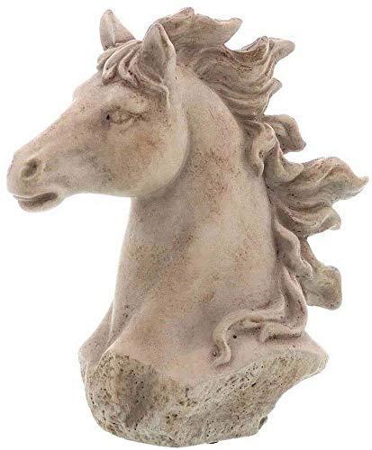 linoows Pferdebüste, Pferdekopf, Garten Figur Pferd, Garten Skuptur aus Beton