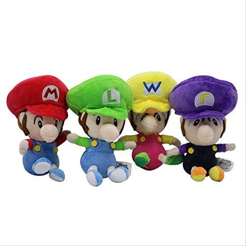 4 Uds Super Mario Bros Mario & Luigi Muñecos De Peluche Juguetes De Peluche Suave Mary's Son Muñeca Niños Niñas Cumpleaños Navidad Regalos 15Cm