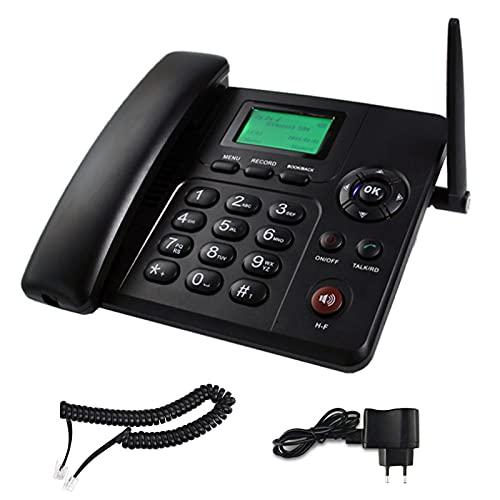 Teléfono De Escritorio Clásico Cuatribanda gsm, Teléfono Fijo Residencial, gsm (850/900/1800/1900 MHz) Funciones De SMS Y Radio, Manos Libres, Teléfono Inalámbrico De Escritorio gsm, Negro