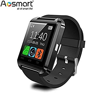Bluetooth Smart Watch, Aosmart U8 Smartwatch for Android Smartphones – Black