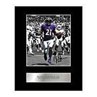 Mark Ingram, Jr. Signed Mounted Photo Display Baltimore Ravens #05 NFL Printed Autograph Gift Picture Print