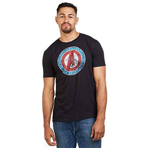 Marvel Mightiest-Mens T Shirt Lrg Camiseta, Negro (Black Blk), Large (Talla del...