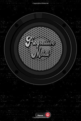 Progressive Metal Planner: Boom Box Speaker Progressive Metal Music Calendar 2020 - 6 x 9 inch 120 pages gift