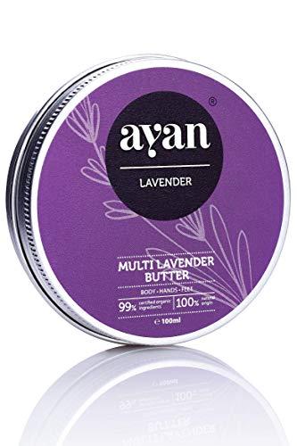 AYAN Naturkosmetik Pflege-Creme für trockene Haut 100 ml - reichhaltige Bodybutter mit Lavendel und Bio-Ölen