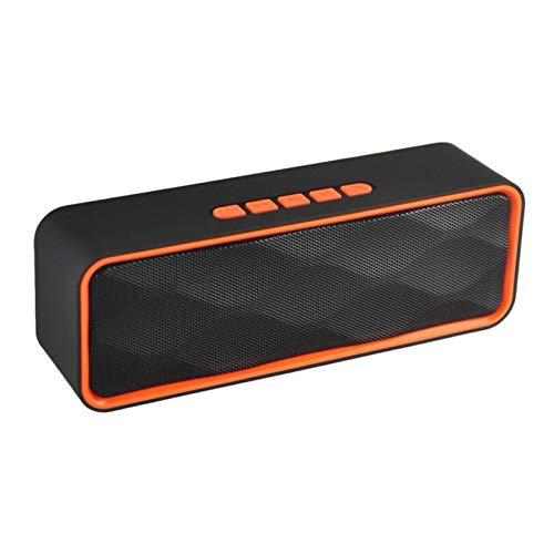 JUNPE Altavoz Bluetooth al Aire Libre Teléfono móvil Subwoofer Coche Mini Audio para automóvil para un Sonido Potente 6 Horas de batería (Color : Orange)