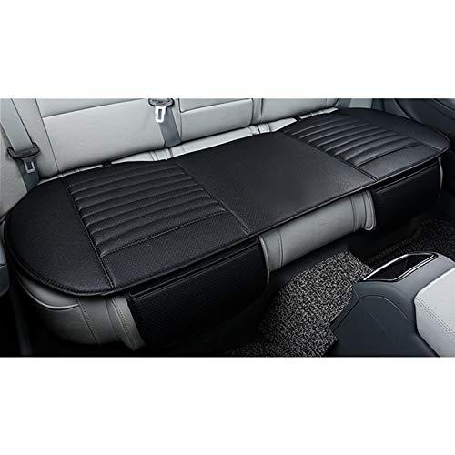 HONCENMAX Auto Sitzbezug Kissen Pad Mat - Atmungsaktiv Auto Seat Protector - Auto Interior Autozubehör - PU Leder Bambuskohle - 1 Paket Hintere Sitzabdeckung