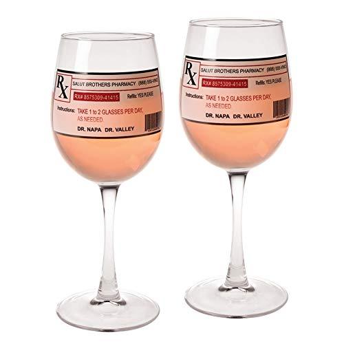 Prescription Wine Glasses - Set Of 2